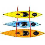 Malone Sling Three - Kayak Hanger For Three Boats THUMBNAIL