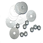 10-32 Stainless Locking Nuts & Washers THUMBNAIL