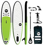 POPUP 11' Green/Black Inflatable SUP Package THUMBNAIL