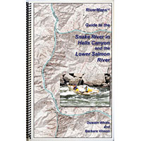 Snake River In Hells Canyon and the Lower Salmon RiverMap MAIN