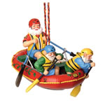 Rafting Santa Ornament