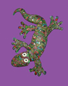 Gecko crawling Polymer Clay Wall Sculpture
