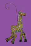 Giraffe Polymer Clay Ornament