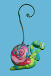 Snail Polymer Clay Ornament THUMBNAIL