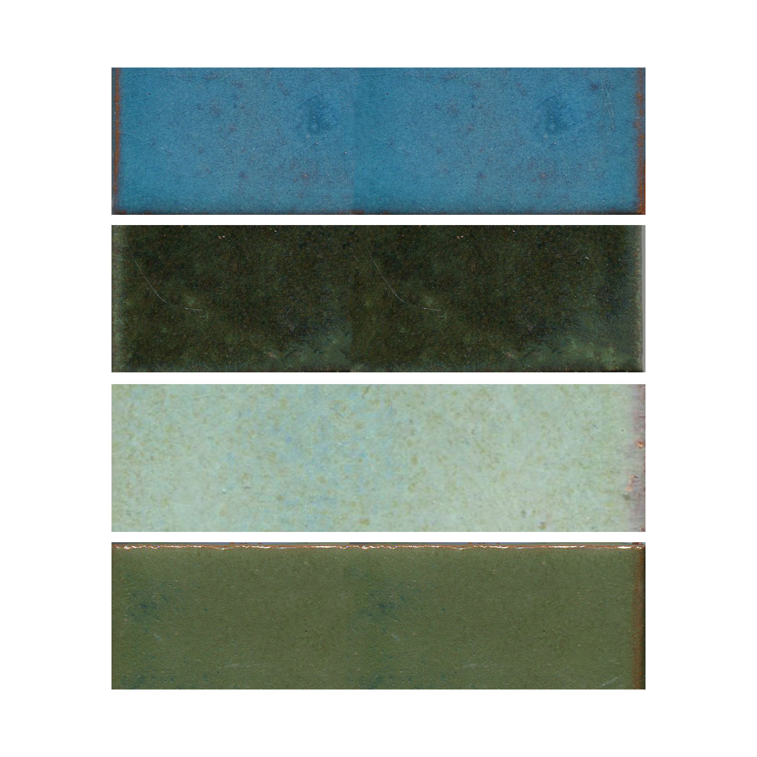 "Cool colored 2"" x 6"" tile MAIN"