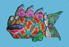 Fish Polymer Clay Wall Sculpture