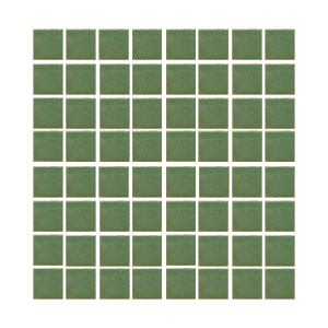 "Avocado Small 1 x 1"" handmade tile in stock THUMBNAIL"