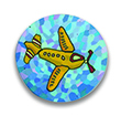 Airplane Polymer Clay Magnet or Pin THUMBNAIL
