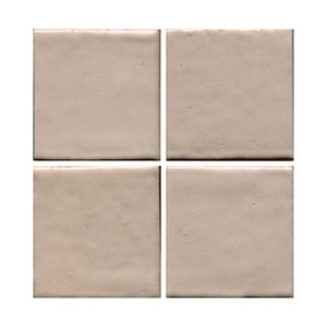 almond, beige flat tile, plain tile, subway tile, hexagon tile, solid color tile, color tile, handmade THUMBNAIL