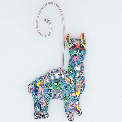 Alpaca Polymer Clay Ornament THUMBNAIL