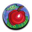 Apple Polymer Clay Magnet or Pin THUMBNAIL