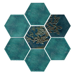 Aurora Borealis Large Hex (16 SF Available) MAIN