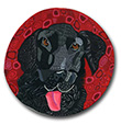Black Lab Polymer Clay Magnet or Pin