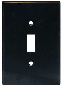 Switch Plate Black Clay Squared Decorative Ceramic House Numbers