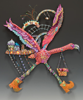 Blingo Flamingo Adventureland Wall Sculpture