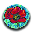 Blue Sky Poppy Polymer Clay Silly Milly THUMBNAIL