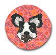 Boston Terrier Polymer Clay Magnet or Pin THUMBNAIL