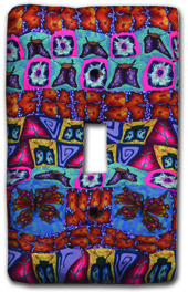 Bright Garden Quilt Silly Milly Switch Plate MAIN
