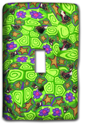 Bright Green Random Silly Milly Switch Plate MAIN