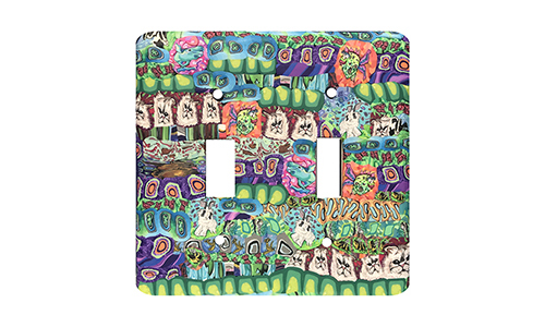 Bright Garden Quilt Silly Milly Switch Plate SWATCH