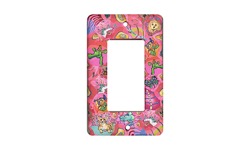 Bright Pink Random Silly Milly Switch Plate SWATCH