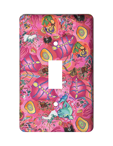Bright Pink Random Silly Milly Switch Plate MAIN