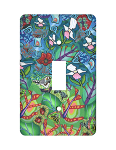 Garden Scene with Bugs Silly Milly Switch Plate THUMBNAIL