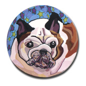 Daisy the Bulldog Polymer Clay Silly Milly