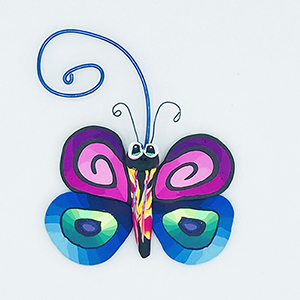 Butterfly Polymer Clay Ornament THUMBNAIL