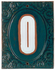 Victorian House Numbers Aurora Borealis/Marshmalllow SWATCH