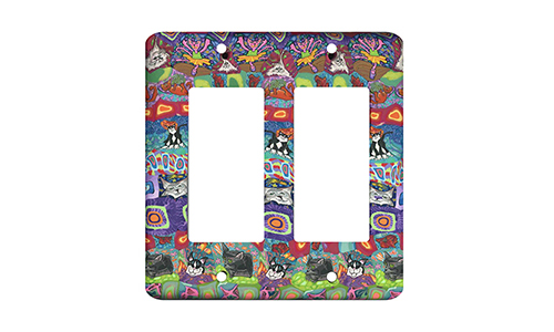 Cat Quilt Silly Milly Switch Plate SWATCH
