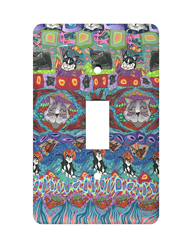Cat Quilt Silly Milly Switch Plate MAIN