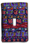 Cat Quilt Silly Milly Switch Plate