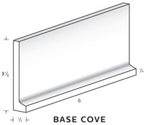 "Base Cove 4"" tall and 1/2"" thick SWATCH"