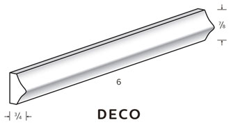 "Deco Trim  is 7/8"" wide and 3/4"" tall"