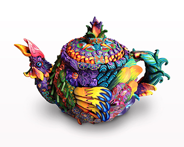 polymer Clay, teapot, Silly milly, Silly millies, Layl McDill, virtual class, online class MAIN