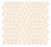 "1"" Hex Unglazed Porcelain SWATCH"