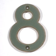 Dark Green Art & Crafts Cut Out House Numbers SWATCH