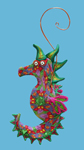 Sea Horse Polymer Clay Ornament
