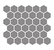"2"" Hexagon Unglazed Porcelain SWATCH"