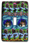 Dog Quilt Silly Milly Switch Plate THUMBNAIL