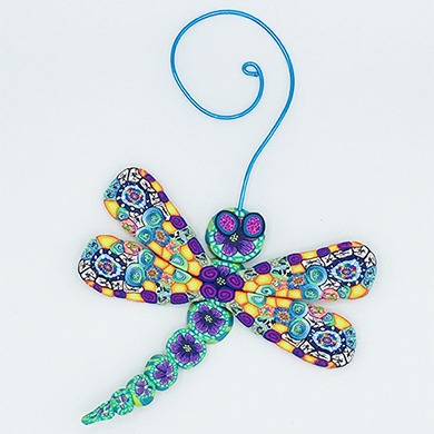 Dragonfly Polymer Clay Ornament THUMBNAIL