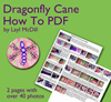 Dragonfly Cane PDF Tutorial THUMBNAIL