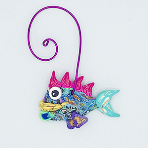 Fish Polymer Clay Ornament SWATCH