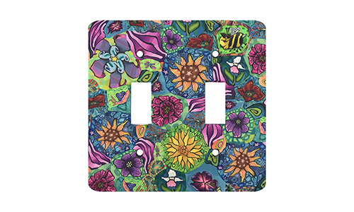 Flower Garden Silly Milly Switch Plate SWATCH
