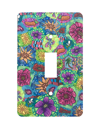 Flower Garden Silly Milly Switch Plate MAIN
