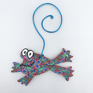 Frog Polymer Clay Ornament SWATCH