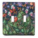 Garden Scene with Bugs Silly Milly Switch Plate