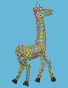Giraffe Polymer Clay Wall Sculpture