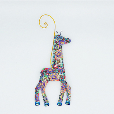 Giraffe Polymer Clay Ornament THUMBNAIL